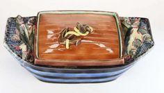 "Wedgwood Majolica ""Sardinia"" Sardine Box, Boat and Fish Form"