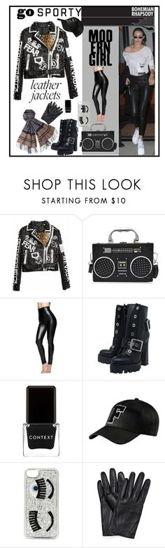 """leather jackets"" by explorer-14673103603 on Polyvore featuring Alexander McQueen, Context, Puma, Chiara Ferragni and Barbour"