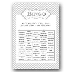 Hääbingo, hopea, 10 kpl/pkt - Hää- ja juhlaputiikki Ribbon & Ink