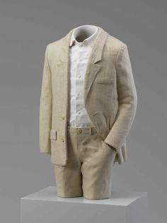 "Erwin Wurm [Austria] (b 1954) ~ ""Suit"", 2012. Acryl und Leinenanzug (55 x 31 x 20 cm).   #art #sculpture #figurative #conceptual_art #installation"