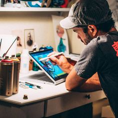 """""""See how Austin artist creates a mural and then takes his to the streets. Study Inspiration, Design Inspiration, Microsoft Surface Book, Pc Setup, Best Laptops, Electronic Devices, Cool Rooms, Business Women, Ux Designer"""