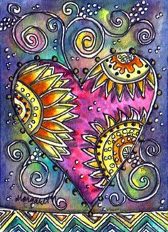 Summer Heart Tribal Suns by Margaret Storer-Roche