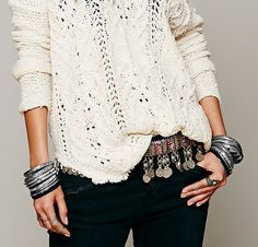 Afghan Silver Jewelry & Cream White