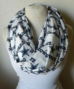 Dallas Cowboy Infinity Scarf by LolaPickleson on Etsy, $23.00
