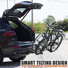 BV Bicycle Hitch Mount Rack Carrier for Car Truck SUV Tray Style Smart Tilting Design Carrier *** Details can be found by clicking on the image. (This is an affiliate link) Truck Bike Rack, Best Bike Rack, Hitch Bike Rack, Bicycle Rack, Bike Rack For Suv, Truck Hitch, Best Cars For Women, Cycling Accessories, Car Accessories