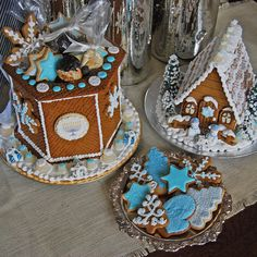 Hanukkah centerpieces and gingerbread cookies from The Solvang Bakery