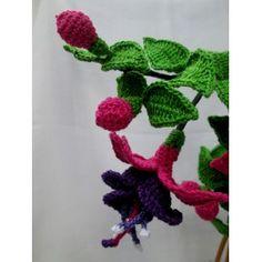 Fuchsia  Flower Crochet Pattern