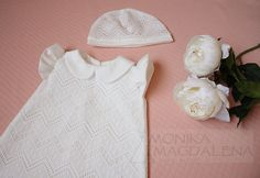 Dress  and cap children / baby Lily 2 with by MonikaMagdalenaHM