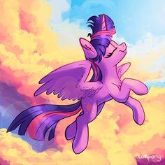 Twi In The Sky by LolliponyArt on DeviantArt Mlp Twilight, Princess Twilight Sparkle, My Little Pony Cartoon, My Little Pony Drawing, Unicorns, Princess Cadence, Princess Zelda, Celestia And Luna, Mlp Pony