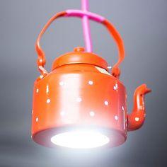 PoppadumArt Kettle Lamp Orange