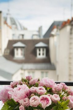 Paris Roses Photograph  Roses and Peonies on a by GeorgiannaLane