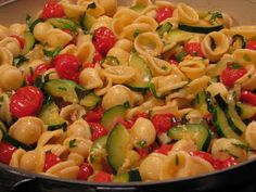 Pasta with Zucchini and Roasted Tomatoes @ FriendsFoodFamily.com