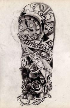 Arm Sleeve Tattoo Stencils 1000 Ideas About Timeless Tattoo On . Tattoos And Body Art sleeve tattoo designs Girl Half Sleeve Tattoos, Half Sleeve Tattoos Drawings, Half Sleeve Tattoos Designs, Best Sleeve Tattoos, Tattoo Designs For Women, Tattoo Sleeves, Tattoo Sketches, Roses Half Sleeve Tattoo, Quater Sleeve Tattoo