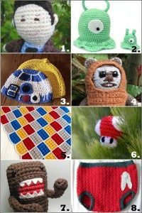 Geek Crafts: 8 Awesomely Geek-tastic Crochet Projects #geek #crochet I AM SUCH A NERD I LOVE THESE LOL