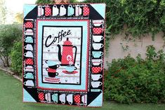 Snuggle Up With Coffee Quilt by Carol from Just Let Me Quilt