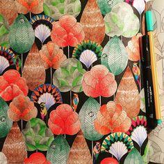 Meu bosque de pássaros  #livrocoloriramo #reinoanimaltop #arteterapia #arteantiestres