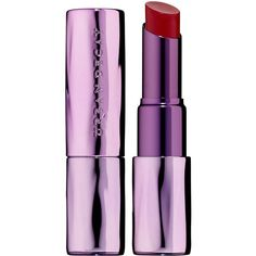 Urban Decay Sheer Revolution Lipstick (€20) ❤ liked on Polyvore featuring beauty products, makeup, lip makeup, lipstick, paraben-free lipstick, long wearing lipstick, urban decay, long wear lipstick and glossy lipstick