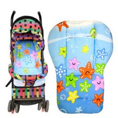 Soft Thicken Pram Colorful Dot Cushion Baby Trolley Seat Cushion Pushchair Cotton Pad Infant Stroller Mat for Kids Puset Minderi