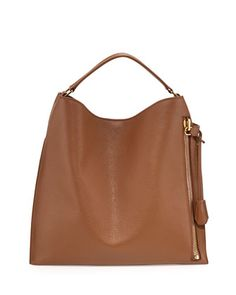 Alix Large Leather Hobo Bag, Tan by TOM FORD at Neiman Marcus.