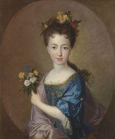 FRANCOIS DE TROY (1645-1730), Portrait of Princess Louise-Marie Stuart (1692-1712), c.1700; oil on canvas; 30 x 24 inches, 76 x 61 cm