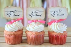 Wedding cupcake toppers.