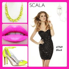 "Get this ""Electrifying"" look with the perfect LBD style 47549 Black. www.scalausa.com"