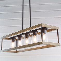 Indoor/Outdoor Rectangular Rustic Chandelier