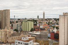 Circulando por Curitiba - seis templos diferentes nesta foto