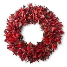 "Smith & Hawken® Fall Dried Red Wreath - 21.25"""