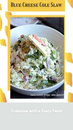 Blue Cheese Coleslaw, Different Salads, Easy Salads, Vegetable Side Dishes, Lunches And Dinners, Lettuce, Salad Recipes, Dinner Recipes, Rice