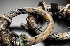 Mokume Gane полимерные браслеты фото Р. Diamante