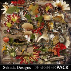An Autumn View Bundle, a digital scrapbooking kit from MyMemories Digital…