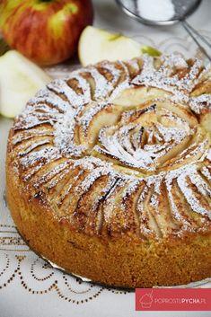 Ucierane ciasto z jabłkami Camembert Cheese, Recipies, Muffin, Bread, Dishes, Baking, Fruit, Breakfast, Sweet