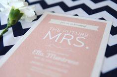 printable bridal shower invitation blushing by vallarinacreative