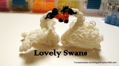 Lovely Swan Charm - How to Rainbow Loom Design - Animal Series Tutorial by Elegant Fashion 360