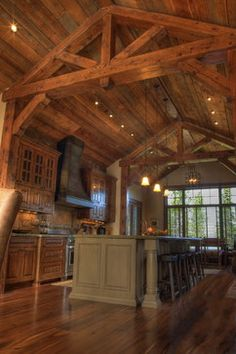 Timber Frame Living Room Design, Pictures, Remodel, Decor and Ideas - page 10