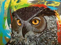 Owls by Darrell Driver Pinned by www.myowlbarn.com