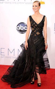 January Jones in Zac Posen (she always brings something FRESH) #Emmy2012