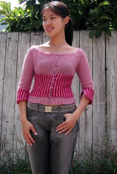 Free Knitting Pattern - Women's Cardigans: Candy Cardigan