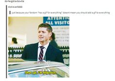 """Never get sick of Supernatural taking over posts. haha"" You all freaking love us. I freaking love us."