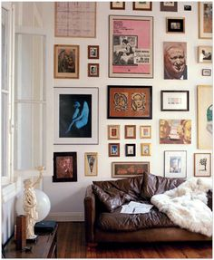 Quirky gallery wall.