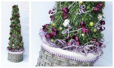 Purple Shabby Chic Christmas Decorations - La Floreale di Stefania - www.laflorealedistefania.it #nataleshabbychic #shabbychic #shabbychiccristmas #shabbydecorations #shabbywinter