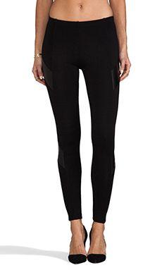Amanda Uprichard Ponti/Vegan Leather Legging in Black   REVOLVE