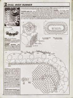 Camino de mesa con diseño de flores / patrones crochet | Crochet y Dos agujas