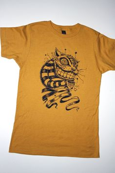 Cheshire Cat tee limited edition Tea Time t-shirt by Bryan Collins
