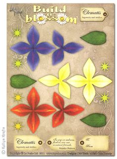 Decoupage A4 Sheet - Build A Blossom, Clematis - £0.49 : Card Making + Scrapbooking Craft Supplies
