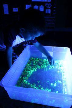 Glow in the Dark Water Beads - sensory play