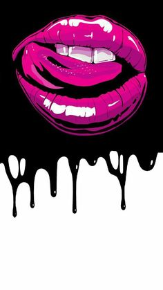 Pop Art Wallpaper, Iphone Wallpaper, Kiss Lip Tattoos, Arte Do Hip Hop, Pop Art Lips, Graffiti Font, Dope Wallpapers, Dope Art, Erotic Art