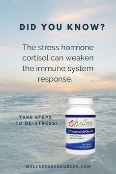 Did you know? The stress hormone cortisol can weaken the immune system response. Take steps to de-stress! Wellness Resources PhosphatidylSerine helps reduce cortisol in the body as well as helping with memory, focus, learning, mood, and cognition. Nourish your brain cells with this important phospholipid! Health And Wellness Quotes, Health And Fitness Articles, Natural Remedies For Uti, Latest Health News, Brain Health, Women's Health, Cortisol, Health Motivation, Immune System
