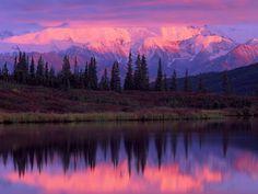 Alaskan Landscapes   landscapes wonder lake alaska range sunset denali national park alaska